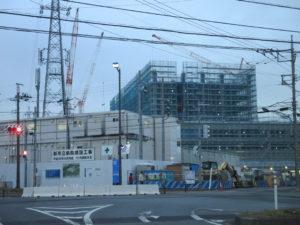 松戸市立総合医療センター建築中