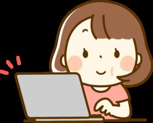 パソコン操作女性